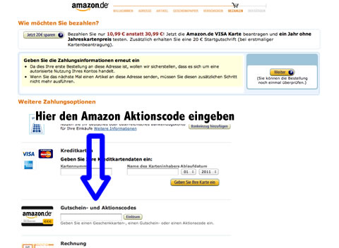 Amazon Aktionscode