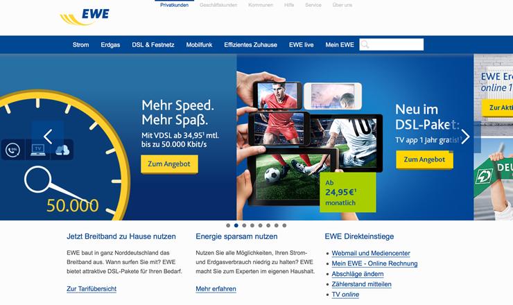 EWE Aktionscode für Rabatt bei DSL oder Handy
